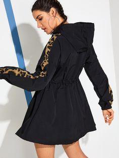 Hooded Dress, Sport Wear, Dress P, Fashion Sketches, Jeans Style, Street Style Women, Drawstring Waist, Hoods, Zip