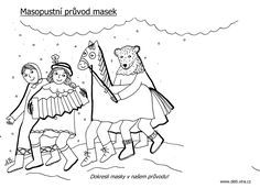 masopust omalovánky - Hledat Googlem Winter Art, Craft Activities, Mickey Mouse, Snoopy, Education, Comics, Disney, Crafts, Fictional Characters