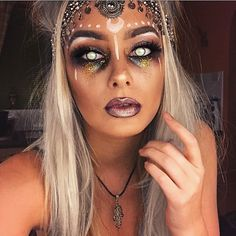 Picture consequence for fortune teller halloween make-up Picture consequence for fortune teller.Amazing Picture consequence for fortune teller halloween make-up Picture consequence for fortune teller. Halloween Inspo, Halloween Makeup Looks, Halloween 2017, Creepy Halloween, Halloween Tutorial, Diy Costumes, Halloween Images, Halloween Mermaid, Costume Ideas