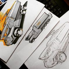 Some sci-fi truck sketches this evening.
