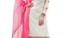 INQUIRY WHATSAPP /  Call- 91 9624913609 Women's Semi-Stitched White & Pink Colour Georgette Salwar Kameez For Party Wear / Festival Wear / Office & Casual Wear /Latest Salwar Kameez Collection http://www.justkartit.com/index.php?route=product%2Fproduct&product_id=5058&utm_source=dlvr.it&utm_medium=facebook&utm_campaign=justkartit #Diwali