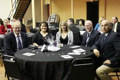 From left to right: City Attorney Larry Long, City Council Member Sandra Carrasco, Alison Burton, Chief Timothy Burton, Deputy Chief John Blanco