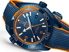 """Video of the Omega Planet Ocean """"Big Blue"""" Co-Axial Master Chronometer released at Baselworld 2017 Stylish Watches, Luxury Watches For Men, Cool Watches, Rolex Watches, Wrist Watches, Omega Planet Ocean, Omega Seamaster Planet Ocean, Dream Watches, Sport Watches"""