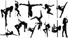 Pole Dancer Silhouette Vector (12)