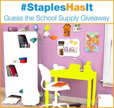 Enter the #StaplesHasIt Guess the School Supply Giveaway!