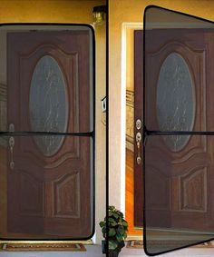 Instant Screen Door - Mounts with Velcro would be great to keep the ...