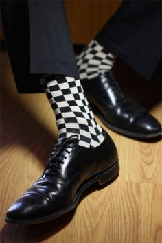 Yeeps! Sox POPKILLER ~ Classic Checker Ska Socks (Black & Cream) $8.50