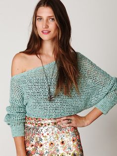 Free People Speckle Ribbed Pullover, €88.87