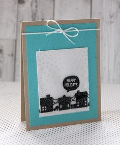 Happy Holidays (with gift-card holder) by dearlydee at @studio_calico