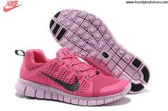 Buy 2013 New Womens Nike Free Powerlines II Pink White Shoes Shoes Store