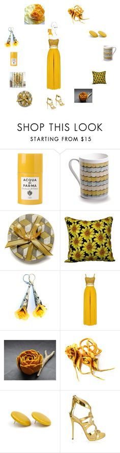 """""""Shades of gold"""" by einder ❤ liked on Polyvore featuring Acqua di Parma and Giuseppe Zanotti"""