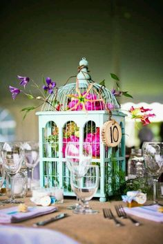 #vintage #birdcage #fresh #fun #floral #stationery #invitations #wedding #centerpieces #wicca  For more inspirational wedding posts:  www.fb.com/labolaweddings https://twitter.com/Lala4e_Labola