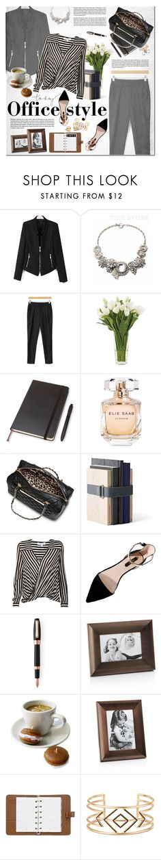 """""""Office Style"""" by vanjazivadinovic ❤ liked on Polyvore featuring NDI, Moleskine, Elie Saab, Mossimo, Menu, 10 Crosby Derek Lam, Montegrappa, Crate and Barrel, Mulberry and Stella & Dot"""