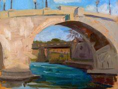 Looking Through Ponte Cestio, bel quadro di Kelly, mi sono sempre piaciuti i ponti e i fiumi