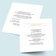 Einleger quadratisch: Wir trauen uns! Einlegekarten als Zusatzkarten für die Hochzeitseinladung drucken lassen!