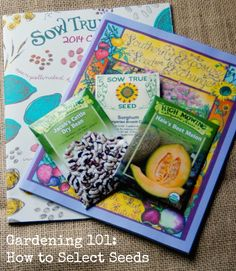 Gardening 101: How to Select Seeds #gardening #seeds