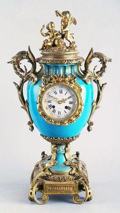 A French Louis XV style ormolu-mounted porcelain