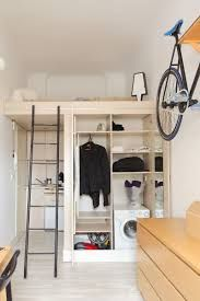 Micro Apartment in Poland. Shelving under the loft? Micro Apartment, Tiny Apartments, Tiny Spaces, York Apartment, Apartment Interior, Small Rooms, Studio Apartment, Apartment Ideas, Small Space Living