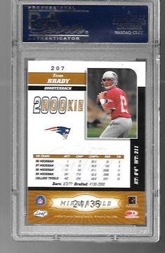 2000 Leaf Certified 4 Star Mirror GOLD Tom Brady #207 PSA 9 MINT POP 3 24/35 | eBay