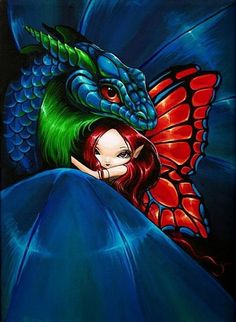 Dragon and Fairy Fantasy Art   Fairy Dragon - by Nico Niemi from Magical Companions