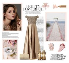 """""""Elegance"""" by belladels ❤ liked on Polyvore featuring Farrow & Ball, Oris, Beauty Secrets, Adrianna Papell, Neiman Marcus, disney, frozen, elsa and belladels"""