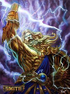 SMITE Zeus Gold Skin by PTimm