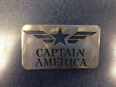 Batman The Dark Knight  Man Card Captain  America FREE SHIPPING Stainless Steel Made to last on Etsy, $10.00