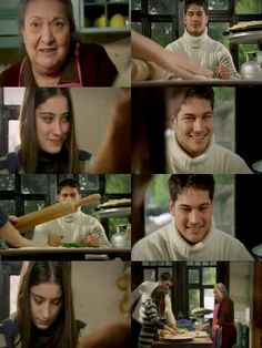 Ep46:Gulzar:Mash'Allah to my beatiful girl.Your hand is perdisposed. Feriha:Is it working. Gulzar:It's working.Look your love won't leave you hungry,You get this girl,get her. Feriha:Don't look like that.I cant do it. Emir:Stop,let me see how it tastes. How is it supposed to taste,its a dough,how are you going to taste it? Feriha:Gulzar aunte say something he is ruining it. Gulzar:you little ruhi,ah man..you. Feriha:You stop and let it go. Gulzar:Young times,the react is different beauty,the…