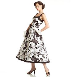 Vogue Vintage Model pattern - fitted bodice circle skirt contrast band extends to straps-could so be lace prom wedding