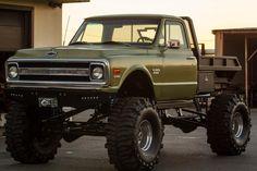 Custom Chevy Flatbed Pickup
