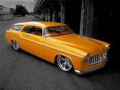 The only two door 1956 Chrysler wagon in existence. HEMI powered. Ridler Great Eight Winner, Winner Chip Foose Design Excellence Award, Goodguys Custom Rod o...