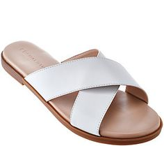 H by Halston Leather Crossover Sandal - Rin