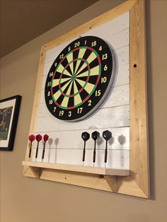 Best Dart board Backboard 2020 – Buying Guide and Ideas for DIY - Topical Talks Dartboard Stand Diy, Dartboard Cabinet Diy, Dartboard Surround, Dartboard Ideas, Garage Game Rooms, Game Room Basement, Basement Bathroom, Basement Ideas, Dart Board Backboard