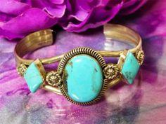 Running Bear Turquoise & Sterling Silver bracelet
