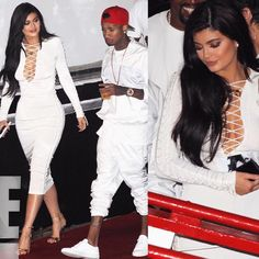 "@kyliepictures on Instagram: ""Kylie & Tyga arriving at James Harden's Birthday Party in LA, last night. """