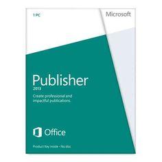 Microsoft Publisher 2013 Key Card (No Disc) - http://www.rekomande.com/microsoft-publisher-2013-key-card-no-disc/