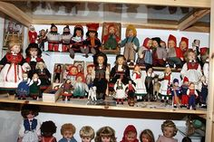 A collection of dolls at a museum at Sakrisøy, Lofoten, Norway.   It is an AWESOME museum in the north of Norway.