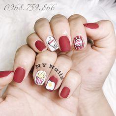 Cute Nail Art, Cute Nails, Pretty Nails, Korean Nail Art, Korean Nails, Ny Nails, Swag Nails, Acrylic Nail Designs, Nail Art Designs