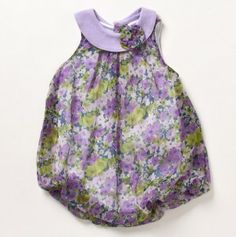 Infant Violet Bouquet Bubble Dress Romper