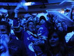 Vancouver #Canucks fans show some towel power at Rogers Arena during Game 1 of the Stanley Cup playoffs. (Photo credit: Gerry Kahrmann/PNG)