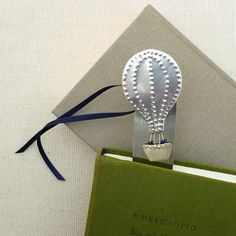 Bookmark hot air balloon,Desk Accessory,Office Accessory,Friends Gift Idea,Kids Gift Idea,Art Sculpture Object,Handmade Metal Object