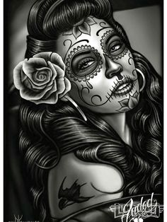 Check out our feature artist David Gonzales, the creator of Homies and a pioneer in the t-shirt and lowrider art genres. La Muerte Tattoo, Catrina Tattoo, Day Of The Dead Artwork, Day Of The Dead Skull, Day Of The Dead Drawing, Lowrider Art, Maquillage Sugar Skull, Los Muertos Tattoo, David Gonzalez