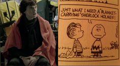 Sherlock has a blanket