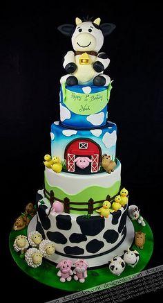 Farm theme cake by Design Cakes, via Flickr