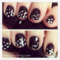 Disneyland Manicure #1 (Dots & Mickey Mouse)