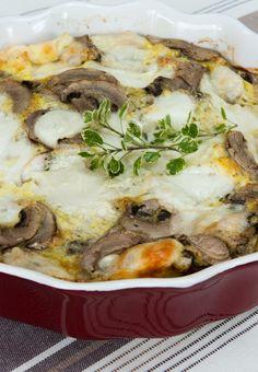 Baked frittata with buffalo mozzarella