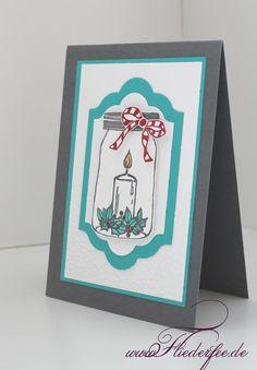 """www.fliederfee.de: Stampin' Up! Weihnachtskarte m. """"Jar of cheer"""""""