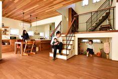 スキップフロアが遊びの空間を創る家_半地下収納