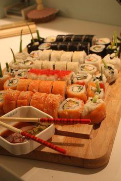 Home made sushi night...