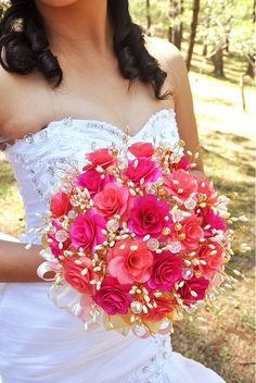 Pink Wedding Flowers by Accents & Petals, via Flickr